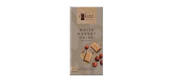 iChoc White Nougat Crisp Chocolate 80g