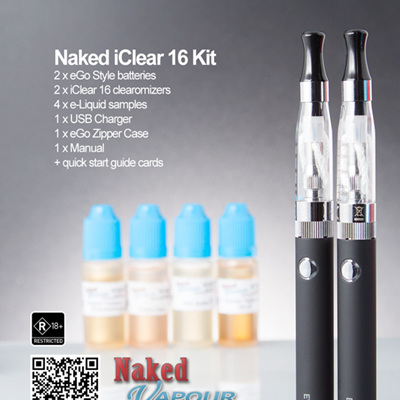 Naked Clearomizer Kit - iClear 16 Types