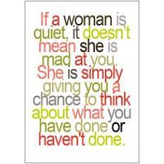 If a Woman is Quiet Fridge Magnet
