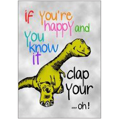 If You're Happy Fridge Magnet