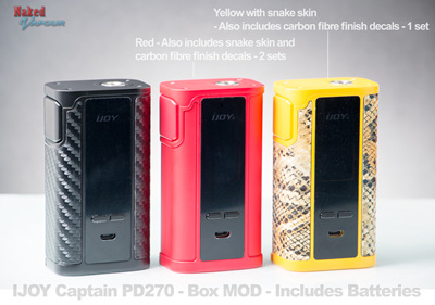 IJOY Captain PD270 - Box MOD - Includes Batteries