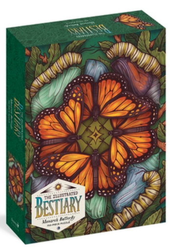 Illustrated Bestiary Puzzle: Monarch Butterfly (750 Pieces)