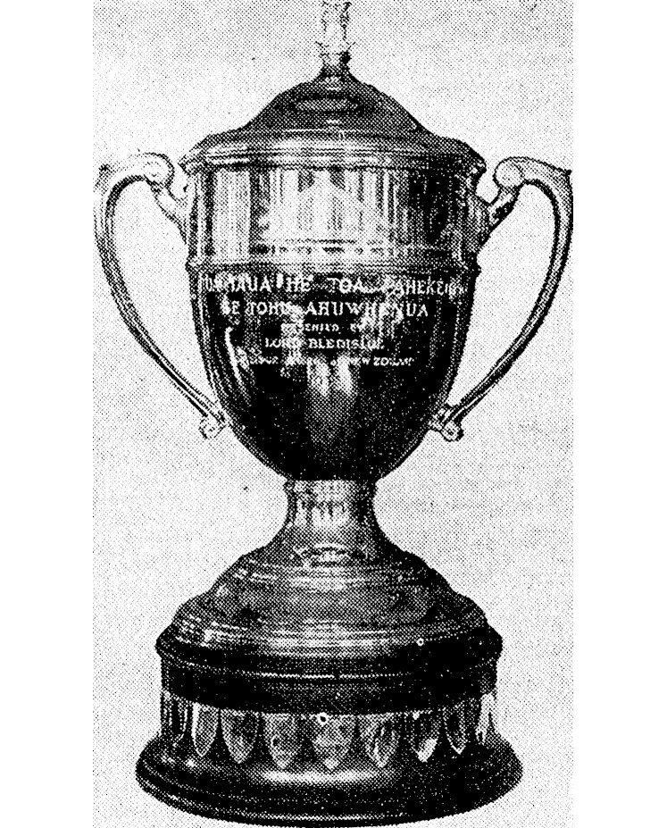 Image of Trophy from 1930s taken from Newspaper