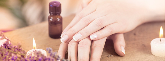 image of womans hands with french polish