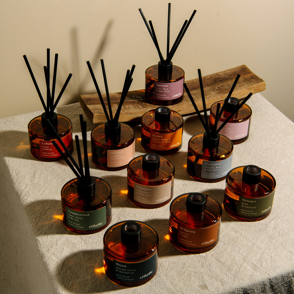 Etikette's Beautiful Diffusers and Candles