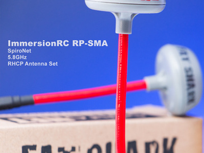 ImmersionRC RP SMA - SpiroNet 5.8GHz RHCP Antenna Set