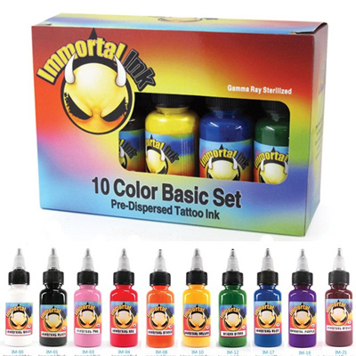 IMMORTAL 10 Primary Color Set 0.5oz Bottles