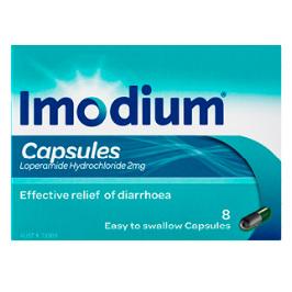 IMODIUM 2MG 8 CAPSULES