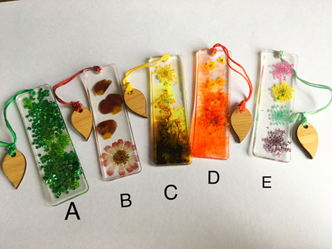 Imperfectly perfect resin bookmarks