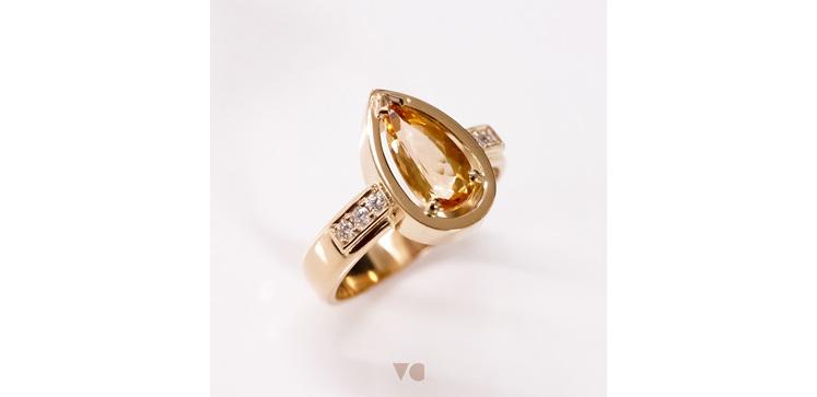 Imperial Topaz and Diamond Custom Bespoke Remodelled Ring Jewellery