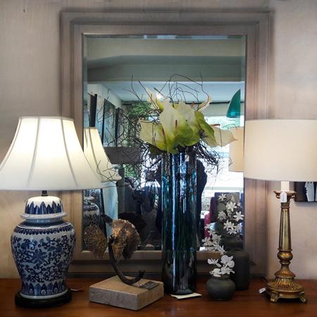 Impression Mirror with Crackle Glaze - $650