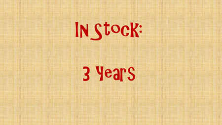 In Stock - 3 years