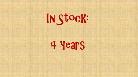 In Stock - 4 Years