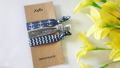 In the Navy Hair Ties Pack (3 ties/pack)