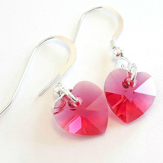 Indian Pink Swarovski crystal earrings
