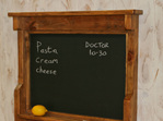 Industrial/rustic Hook and Chalkboard Wall Unit
