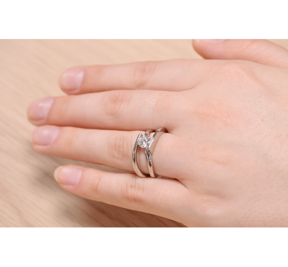 Infinity - Contemporary/Modern Diamond Engagement or Dress Ring