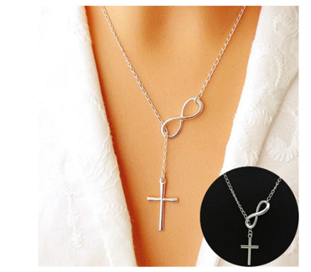 Infinity & The Cross Necklace - Silver