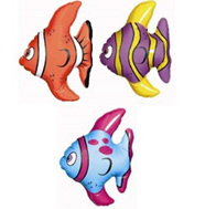 Inflatable mini fish pack of 3