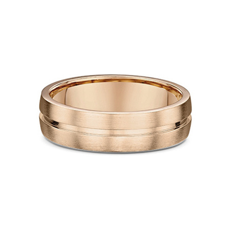 Inner Grooved Mens Wedding Ring