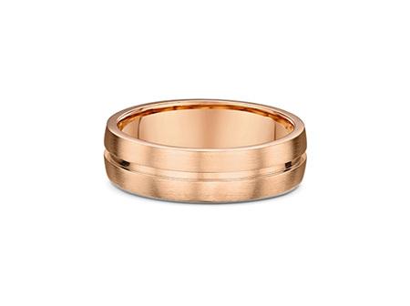 Inner Grooved Mens Wedding Ring