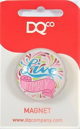 Inspirational Message Magnet - Live Simply