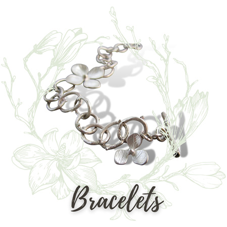 Inspired by nature in Sterling Silver. Intricate designs full of delicate detail…look closer to see more.