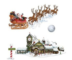 Insta Theme Santa's Sleigh & Workshop Prop