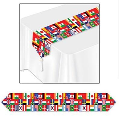 International Flag table runner