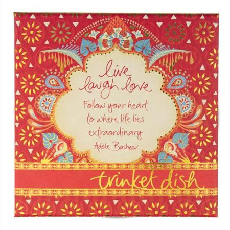 "Intrinsic ""Live Laugh Love"" Trinket Dish"
