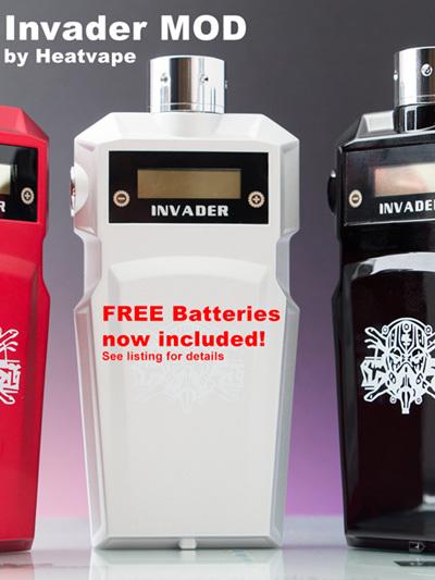 Invader MOD by Heatvape + FREE pair of Efest 18650 Batteries