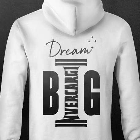 Invercargill Hoodie DREAM BIG - Back