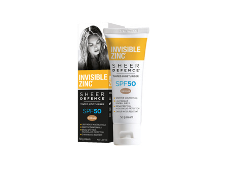Invisible Zinc SD Tint Moist Med SPF50 50g
