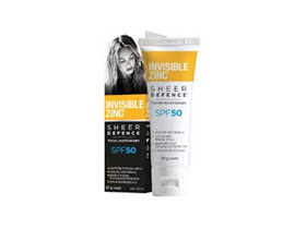 INVISIBLE ZINC SHEER DEFENCE FACIAL MOISTURISER - UNTINTED SPF50