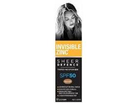INVISIBLE ZINC SHEER DEFENCE TINTED MOISTURISER - MEDIUM SPF50