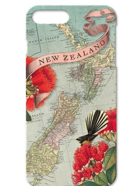 IPhone Cover Fantail Map NZ