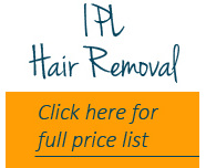 IPL Hair removal price list