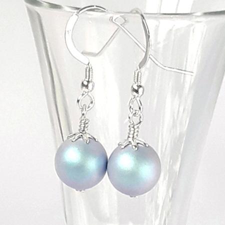 Iridescent Light Blue Earring
