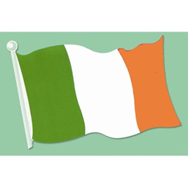 Irish Flag Double sided cutout card 450mm