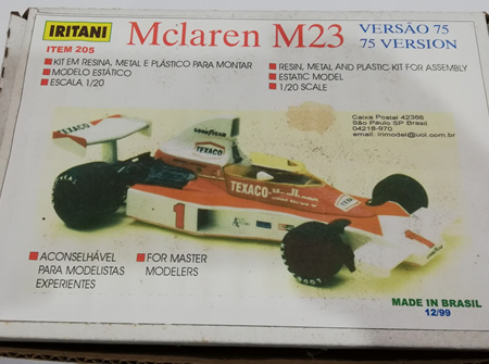 Iritani 1/20 McLaren M23 75 Version