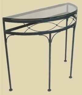 Iron Fishtail Half Round Console