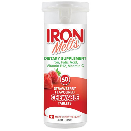 IRON MELTS CHEWABLE TABS 50