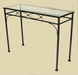 Iron Fishtail Rectangle Console Table