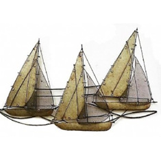 Iron wall art - Yachts