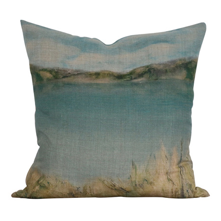 Island Summer Cushion with Feather Inner