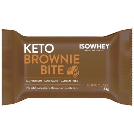 ISOWHEY BROWNIE BITE CHOC 33G