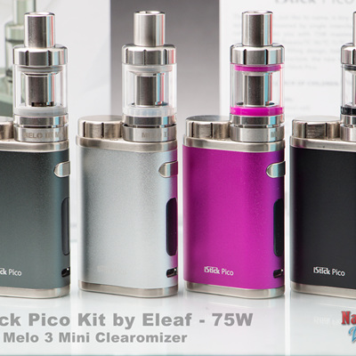 iStick Pico Kit by Eleaf - 75W with Melo 3 Mini Clearomizer