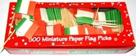Italian Flag Picks x 20