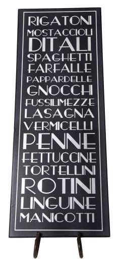 Italian Food Plaque
