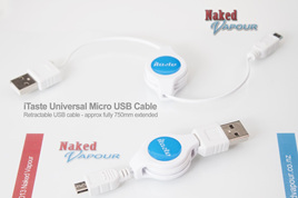 iTaste Universal Micro USB Cable - Retractable